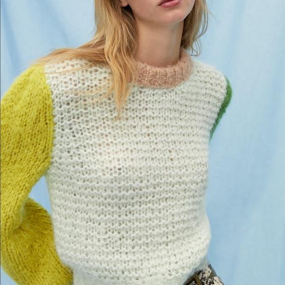 Aritzia Le Fou colour block sweater medium